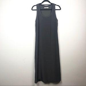 Bailey 44 charcoal gray satin maxi tank dress